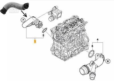 Thermostat to Engine Hose BMW E90 E91 E92 E93 320i N46N