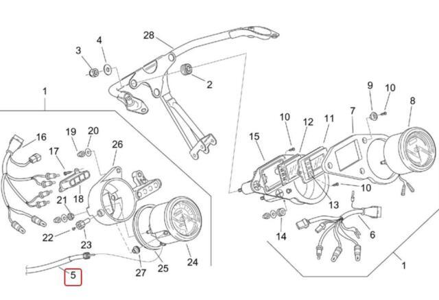 Aprilia RS Tuono 125 Speedometer Odometer Cable Cavo