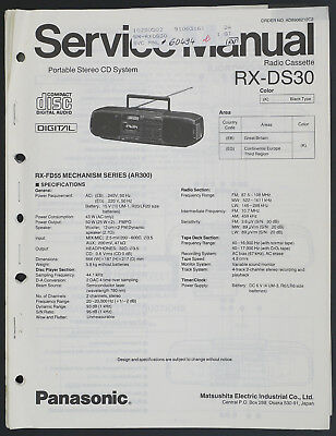 Panasonic RX-DS30 Original Portable Stereo CD System