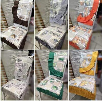 cuscini per sedie da cucina. 6 Cuscini Sedie Trapuntati Modello Shabby Tovaglia Copri Tavolo Plastificata Ebay