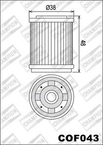 COF043 Oil Filter CHAMPION Yamaha TW125 125 1999 2000 2001