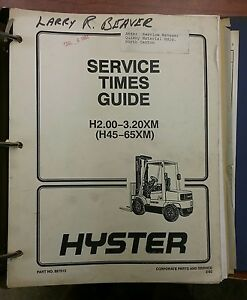 hyster forklift wiring diagram for air horn relay manual h2 00 3 20xm 897515 ebay image is loading