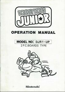 NINTENDO 1982 arcade game = DONKEY KONG JR = operation