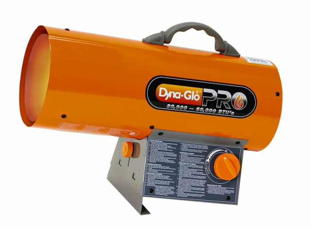 dyna glo portable forced air heater propane