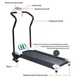 details sur tapis de course pliable petit tapis de marche electrique motorise courir sport
