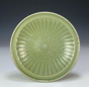 Antique Chinese Celadon Glazed Porcelain Dish Plate - Ming Dynasty