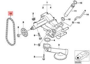 Genuine BMW E31 E32 E53 Coupe Sedan SUV Oil Pump Chain OEM