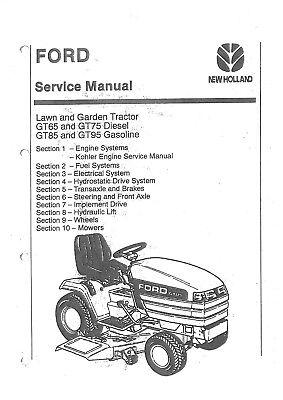 Ford Garden & Lawn Tractor GT65 GT75 GT85 GT95 Workshop