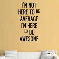 Be Awesome Office Gym Motivation Quote Wall Art Stickers ...