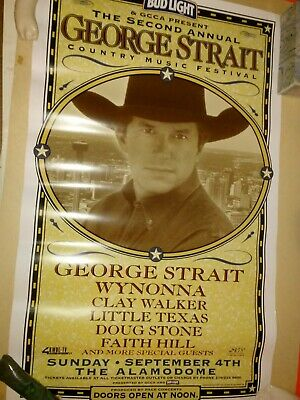george strait second annual country music festival concert poster faith hill ebay