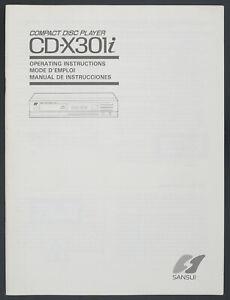 Sansui CD-X301i Original CD Player Manual/Operating