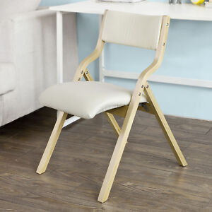 padded folding chairs uk kane chair design sobuy wood beige home office dining image is loading
