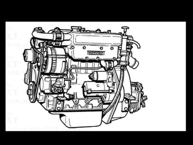 THORNYCROFT MARINE ENGINE MANUALs 85pg for Diesel Boat