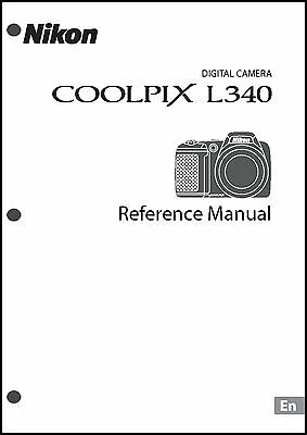 Nikon CoolPix L340 Digital Camera User Guide Instruction