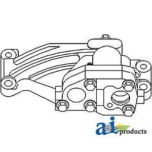 John Deere Parts ENGINE OIL PUMP RE507076 992E, 992D, 890A