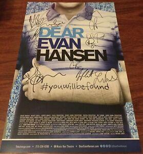 dear evan hansen obc cast signed
