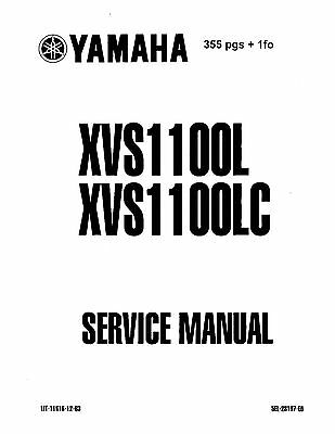 Yamaha service workshop manual 1999 V-STAR XVS1100L