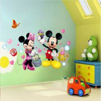 Cute Mickey Minnie Mouse Wall Stickers Vinyl Decals Kids ...