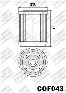 COF043 Oil Filter CHAMPION Yamaha Atvs YFM250 Bear Tracker