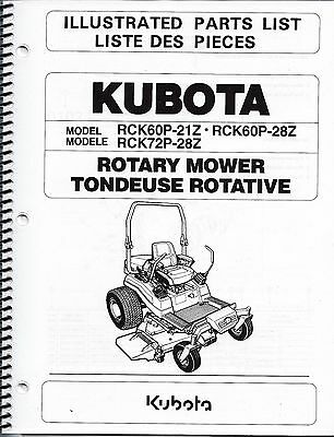 Kubota RCK60P-21Z RCK60P-28Z RCK72P-28Z Zero Turn Mower