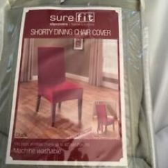 Chair Covers Sage Green Wedding For Sale Sure Fit Duck Solid Dining Cover Back Ties New Ebay Image Is Loading