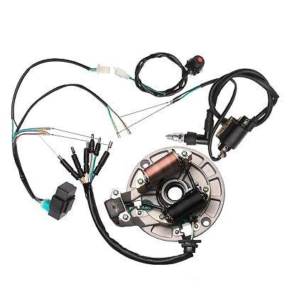 125cc kick start cdi wire harness magneto stator wiring dirt pit bike ssr  taotao  ebay