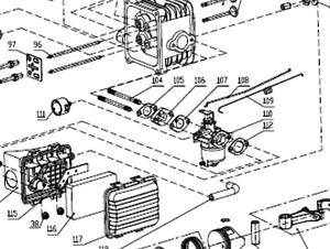 Genuine Cobra DG350 mower engine Carburettor primer