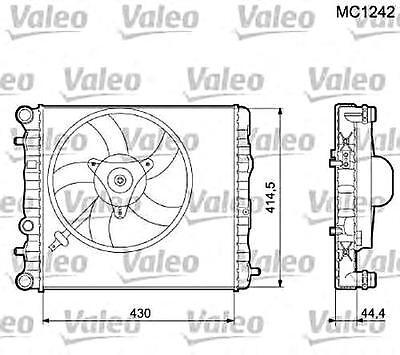 Engine Cooling Radiator VALEO Fits SEAT Ibiza SKODA Fabia