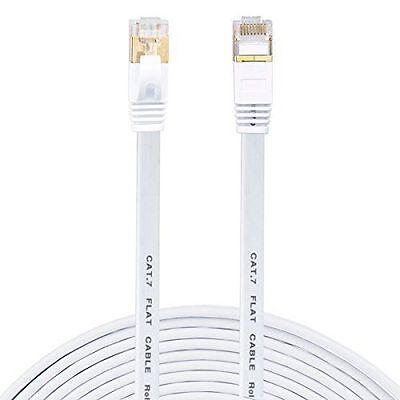 2M 3M 5M 10M 20M RJ45 CAT7 Ethernet Network LAN SSTP White