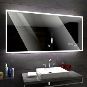 Boston Beau Miroir Salle De Bain Lumineux Led Interrupteur Accessoires Miroir Ebay