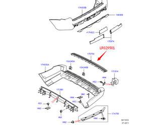Rear Bumper Step Pad Insert Fit 2011 2012 Land Rover Range