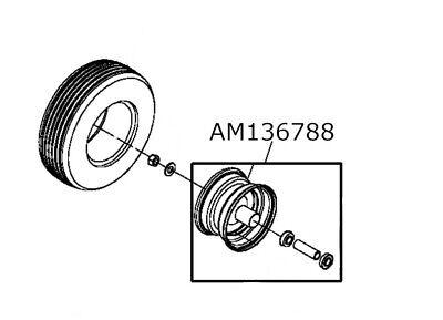 John Deere OEM Front Rim AM136788 For Z225, Z425, & Z445