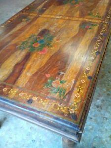 Di melissa fiore su pinterest. Tavolo Decorato A Mano Completo Di 4 Sedie Decorate A Mano Massello Sheesham Ebay