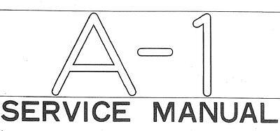 YAMAHA A-1 SERVICE MANUAL INC SCHEMATIC DIAG ENGLISH