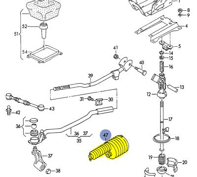 AUDI 100Q 200Q urS4 urS6 A6Q V8 1989-98 SHIFT RODS BOOT