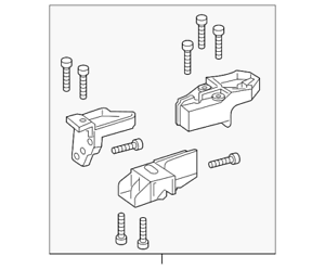 Genuine Mercedes-Benz Repair Kit (Left Side) 156-820-15-00