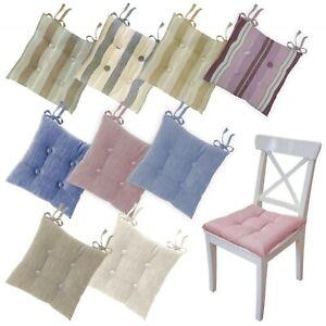 Come realizzare un cuscino per sedia fai da te occorrente e procedimento tutto quello che ti serve sapere per dare un tocco personale alle sedie di casa. Set 4 O 6 Cuscini Sedia Cucina Coprisedia Trapuntati Con Laccetti Mod Maddalena Ebay