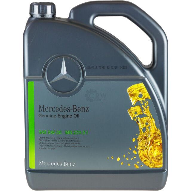huile moteur synthetique mercedes benz 5w 30 mb 229 51 5 liter