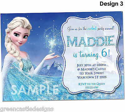 disney frozen birthday invitations printed birthday party invites envelopes