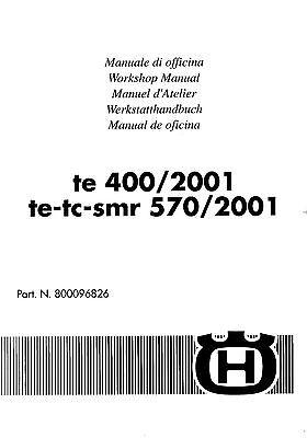 Husqvarna workshop service manual 2001 TE 400, TE 570, TC