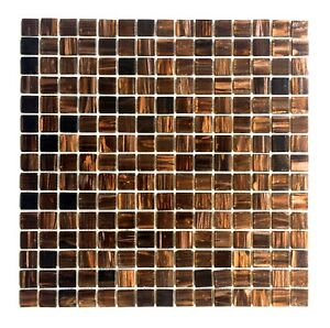 details about 3 4 x 3 4 copper gold glimmer glass mosaic tile backsplash kitchen bath