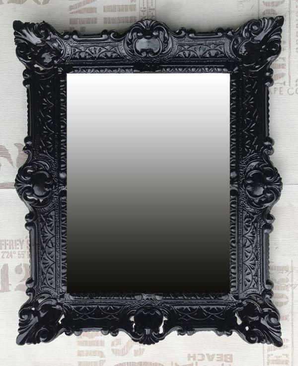 Wall Mirror Black Antique Baroque Bathroom Floor Vanity