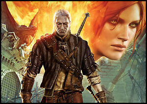 """Wall Calendar 2018 (12 pages 8""""X11"""" / A4) WITCHER game art FPS RPG G-208"""