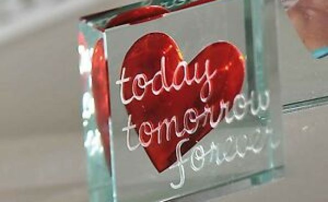 Spaceform Paperweight Today Tomorrow Romantic Love Gifts