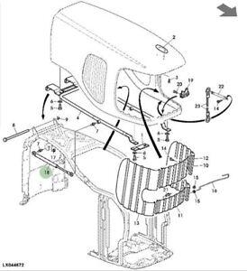 Genuine John Deere Tractor Bonnet Gas Strut AL174088 6