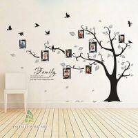 Family Tree Bird Photo Frame Vinyl Nursery Wall Quotes ...