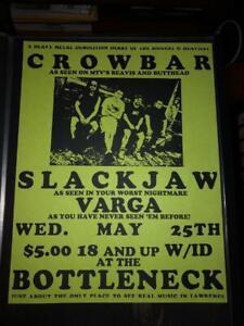 details about vtg crowbar slackjaw varga punk flyer 8 5x11 poster kbd hardcore sludge metal