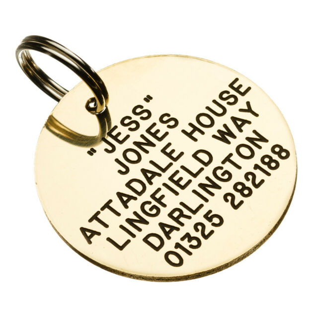 deeply engraved pet tag