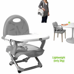 portable high chair chicco power accessories tray new silver pocket snack baby booster seat adjustable image is loading