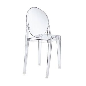 ghost chair replica replacement cushions for papasan australia philippe starck louis clear transparent armless | ebay
